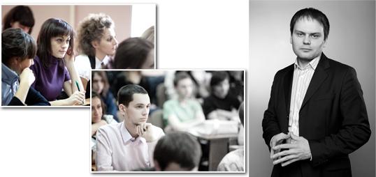 факультета рекламы и PR на выездном практическом семинаре, проводимым генеральным директором агентства выставочного консалтинга «ЭкспоЭффект» Николаем Карасевым