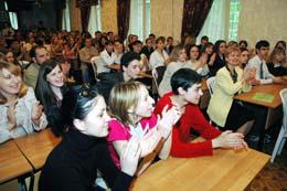 Cобрание студентов дневного отделения института и колледжа.
