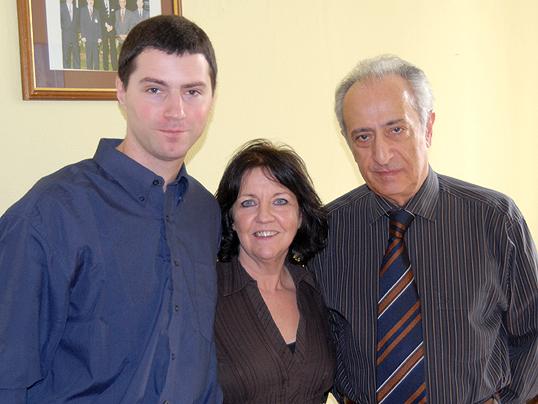 Встреча старшего лектора Университета Салфорда И. Кроули с Ю.М. Антоняном