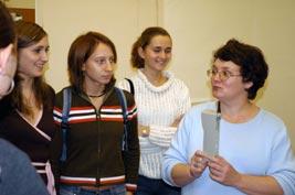 Андреева и студенты экономисты