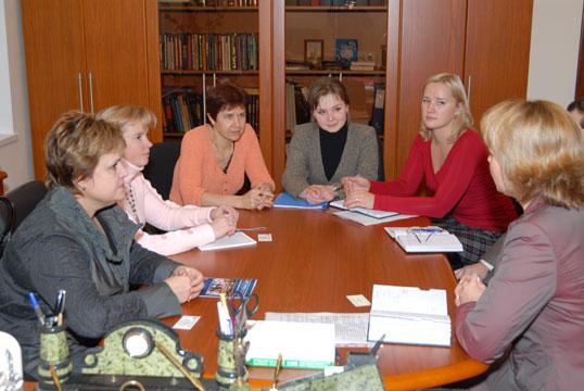 Встреча с директором НМЦ Восточного окружного управления образования г.Москвы О. И. Жильцовой